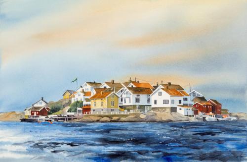 Ön Gullholmen från norr