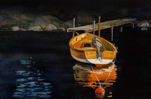 Orange båt